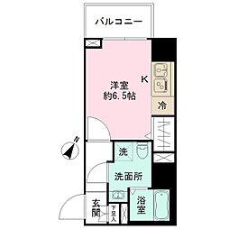 エヌステージトヨダ 10階ワンルームの間取り
