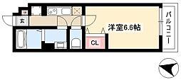 リブリ・Meiwa 1階1Kの間取り