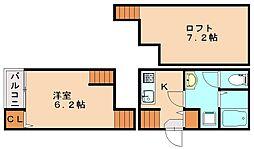 メゾンドソレイユ[2階]の間取り