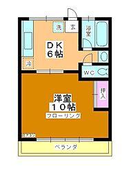 コーポ町田[102号室]の間取り