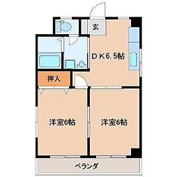 菅原橋スカイマンション[203号室]の間取り
