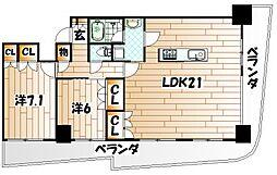 KOKURA TOWER[4階]の間取り