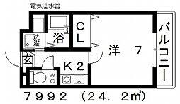 七神国府ビル[308号室号室]の間取り