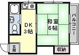 Stable勧修寺[305号室号室]の間取り