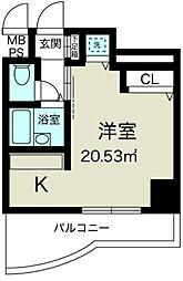 ノルデンハイム新大阪[7階]の間取り