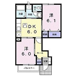 プロムナード 弐番館[1階]の間取り