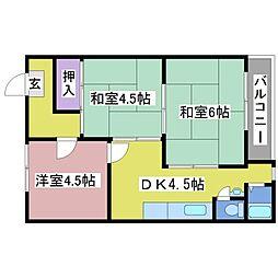 シャルマン岩岡[1階]の間取り