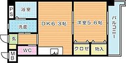 FARO戸畑駅前マンション[505号室]の間取り