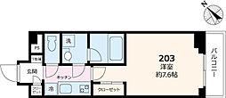Briller Residence文京 2階1Kの間取り