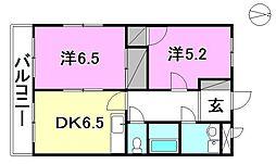 ピースフル鷹ノ子2[101 号室号室]の間取り