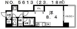 Front Field 天王寺[3階]の間取り