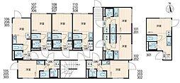 ナノ北新宿2(Nano北新宿2) 2階ワンルームの間取り