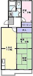 アクシスKAWASE[3階]の間取り