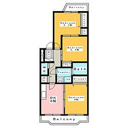 マンション姫[3階]の間取り