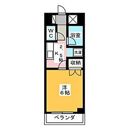 レジデンス大寛[8階]の間取り
