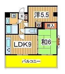 メゾン松丸[303号室]の間取り