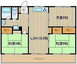 コーポカトー[3階]の間取り