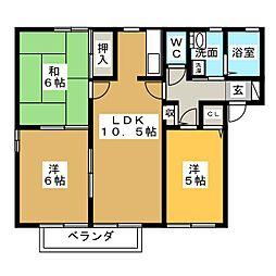 グリーンフローラA[2階]の間取り