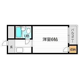 マンション五番館[4階]の間取り