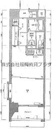 ピュアドームスタシオン箱崎 5階1DKの間取り