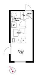 都営新宿線 曙橋駅 徒歩4分の賃貸マンション 4階ワンルームの間取り