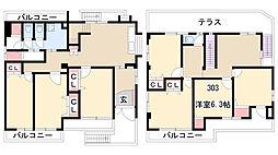 愛知県名古屋市守山区小幡中2丁目の賃貸マンションの間取り