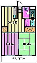 第7岡昭マンション[303号室]の間取り