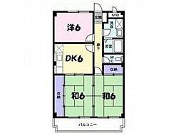 兵庫県神戸市北区谷上西町の賃貸マンションの間取り