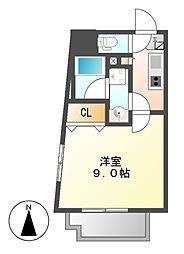 コスモナーレ千種[4階]の間取り