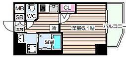 エステムコート梅田北IIゼニス[6階]の間取り