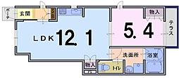 ラングベルク永田[101号室]の間取り