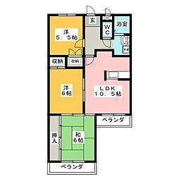 パークヒル板倉[3階]の間取り