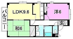 フォブール畑寺公園 B棟[203 号室号室]の間取り