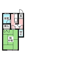 鳥越アパート[2階]の間取り