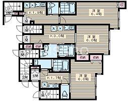 7777-仮)ルミエール中野新橋 1階1Kの間取り