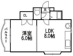 クリスタル[305号室]の間取り