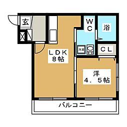 アンジュエール43[3階]の間取り