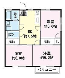 ハイム富士見A[00203号室]の間取り