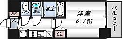 プレサンス塚本グランゲート[3階]の間取り