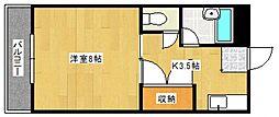 大石ハイツ[4階]の間取り