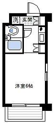 神奈川県横浜市磯子区中原4丁目の賃貸マンションの間取り