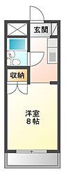 ブルボン浅田[3階]の間取り