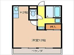 コスモハイツII[203号室]の間取り