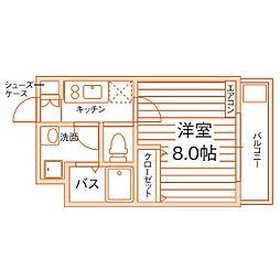学生会館GROW STAGE 名古屋[1階]の間取り