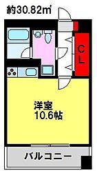 E.POPULAR[8階]の間取り