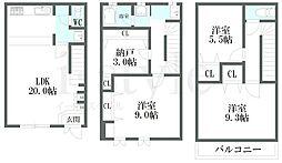 [テラスハウス] 愛知県名古屋市守山区新城 の賃貸【/】の間取り