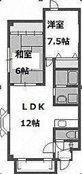 北野宝ビル[4階]の間取り