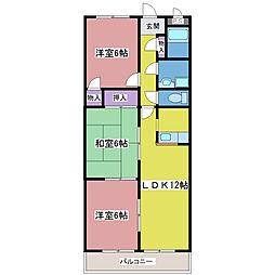 ファミリーマンション[1階]の間取り