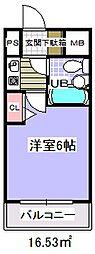 ローズガーデンA68番館[3階]の間取り