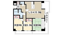 メゾンSK[4階]の間取り